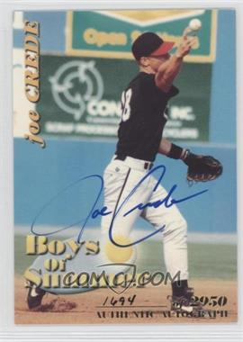 2001 Royal Rookies Throwbacks Boys of Summer Autographs [Autographed] #BOS#3 - Joe Crede /2950