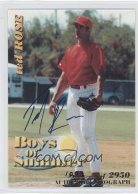 2001 Royal Rookies Throwbacks Boys of Summer Autographs [Autographed] #BOS#7 - Ted Rose /2950