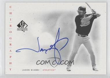 2001 SP Authentic Chirography #JG - Jason Giambi