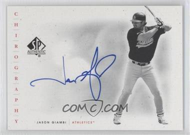 2001 SP Authentic Chirography #JG - Jason Giambi
