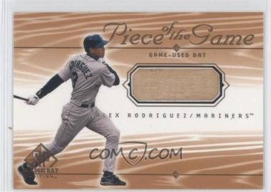 2001 SP Game Bat Edition - Piece of the Game #AR - Alex Rodriguez