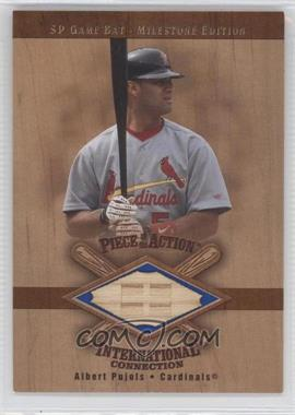 2001 SP Game Bat Edition Milestone Piece of the Action International Connection #I-AP - Albert Pujols