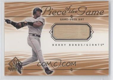 2001 SP Game Bat Edition Piece of the Game #BB - Barry Bonds