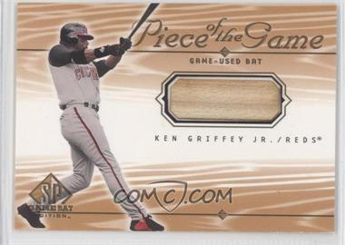 2001 SP Game Bat Edition Piece of the Game #KG - Ken Griffey Jr.