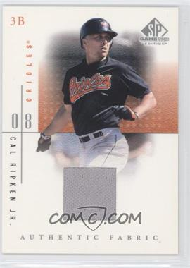 2001 SP Game Used Edition Authentic Fabric #CR - Cal Ripken Jr.