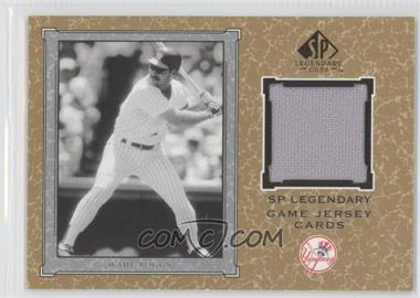 2001 SP Legendary Cuts - Legendary Game Uniform #J-WB - Wade Boggs