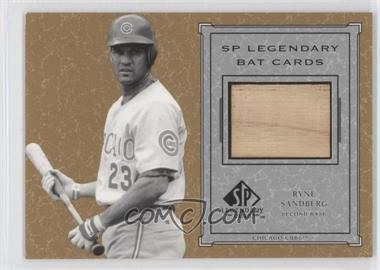 2001 SP Legendary Cuts Legendary Bats #B-RS - Ryne Sandberg
