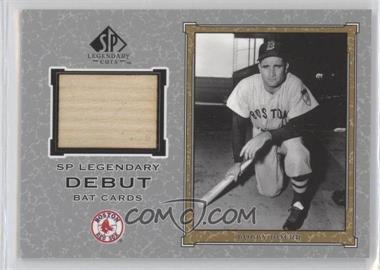 2001 SP Legendary Cuts Legendary Debut Bats #D-BD - Bobby Doerr