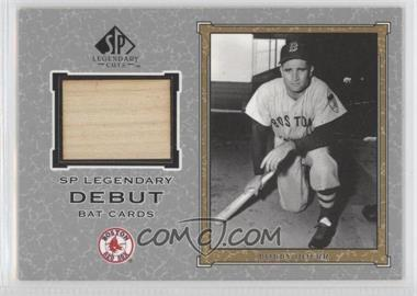 2001 SP Legendary Cuts Legendary Debut Bats #D-BD - Bobby Doerr