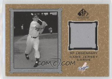 2001 SP Legendary Cuts Legendary Game Uniform #J-GH - Gil Hodges