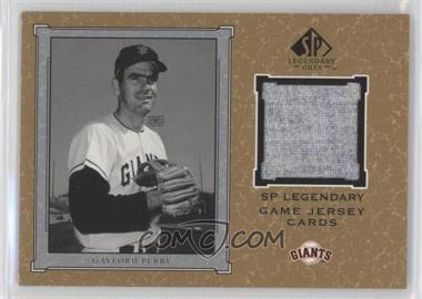 2001 SP Legendary Cuts Legendary Game Uniform #J-GP - Gaylord Perry