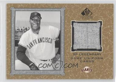 2001 SP Legendary Cuts Legendary Game Uniform #J-WM - Willie McCovey