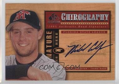 2001 SP Top Prospects Chirography #MC - Michael Cuddyer