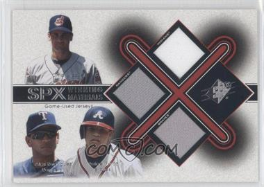 2001 SPx - Winning Materials Triple Jersey Combo #VRF - Omar Vizquel, Alex Rodriguez, Rafael Furcal