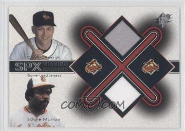 2001 SPx [???] #CR-EM - Cal Ripken Jr., Eddie Murray