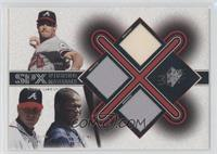 Greg Maddux, Tom Glavine, Andruw Jones