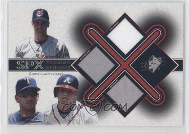 2001 SPx [???] #TRF - Omar Vizquel, Alex Rodriguez, Rafael Furcal