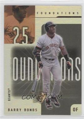 2001 SPx Foundations #F7 - Barry Bonds
