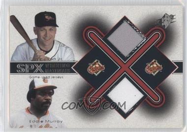 2001 SPx Winning Materials Combo #CR-EM - Cal Ripken Jr., Eddie Murray