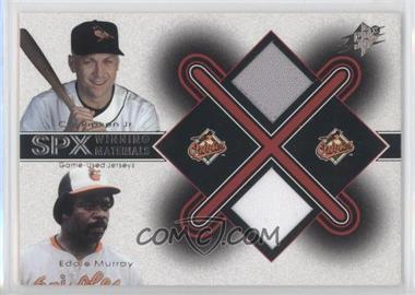 2001 SPx Winning Materials Jersey Combo #CR-EM - Cal Ripken Jr., Eddie Murray