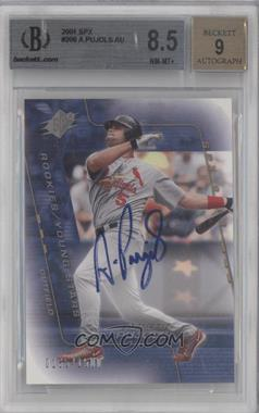 2001 SPx #206 - Rookies/Young Stars Autograph - Albert Pujols /1500 [BGS 8.5]
