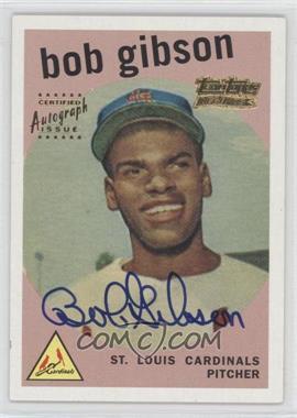 2001 Topps - Team Topps Legends Autographs #514 - Bob Gibson