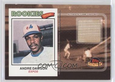 2001 Topps American Pie Rookie Reprint Relics #BBRR-AD - Andre Dawson