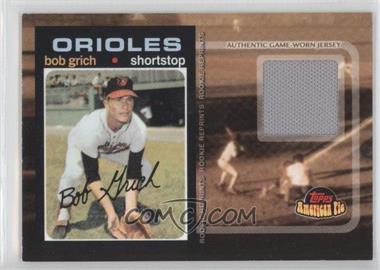 2001 Topps American Pie Rookie Reprint Relics #BBRR-BG - Bobby Grich