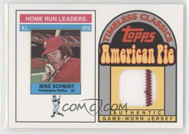 2001 Topps American Pie Timeless Classics #BBTC-31 - Mike Schmidt