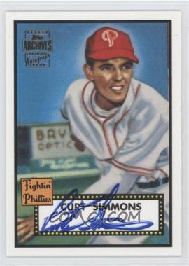 2001 Topps Archives - Autographs #28 TAA - Curt Simmons