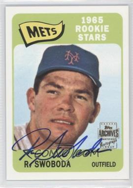 2001 Topps Archives Autographs #100 TAA - Ron Swoboda