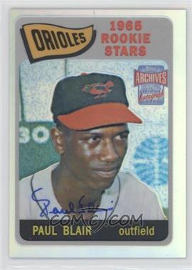 2001 Topps Archives Reserve Rookie Reprint Autographs #ARA34 - Paul Blair