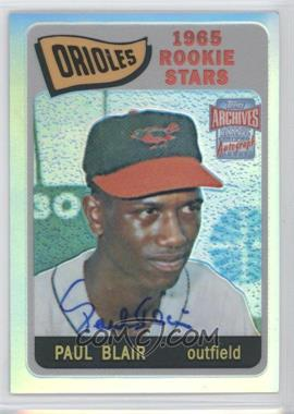 2001 Topps Archives Reserve Rookie Reprint Autographs #ARA473 - Paul Blair