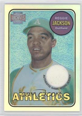 2001 Topps Archives Reserve Rookie Reprint Relics #ARR14 - Reggie Jackson