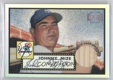 2001 Topps Archives Reserve Rookie Reprint Relics #ARR37 - Johnny Mize