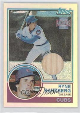 2001 Topps Archives Reserve Rookie Reprint Relics #ARR41 - Ryne Sandberg