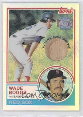2001 Topps Archives Reserve Rookie Reprint Relics #ARR44 - Wade Boggs