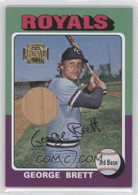 2001 Topps Archives Rookie Reprint Bat Relics #2TARR - George Brett