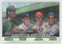 Southpaw Greatness (Randy Johnson, Warren Spahn, Steve Carlton, Sandy Koufax)