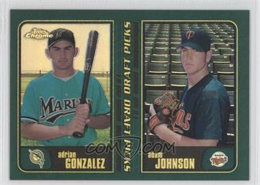 2001 Topps Chrome Retrofractor #277 - Adrian Gonzalez, Adam Johnson