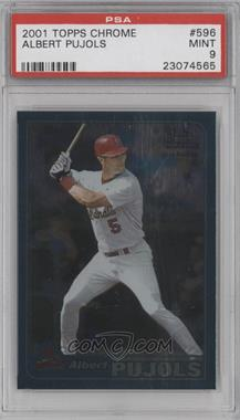 2001 Topps Chrome #596 - Albert Pujols [PSA 9]