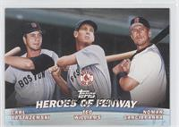 Carl Yastrzemski, Nomar Garciaparra, Ted Williams