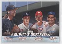 Randy Johnson, Warren Spahn, Steve Carlton, Sandy Koufax