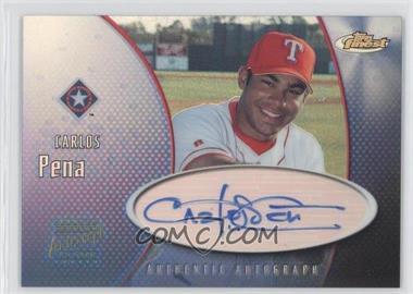 2001 Topps Finest Authentic Autograph #FA-CP - Carlos Pena