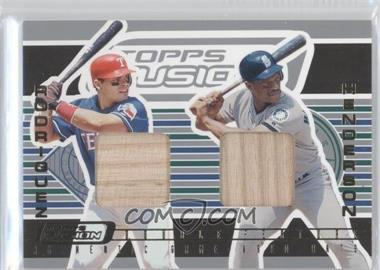 2001 Topps Fusion Double Feature Relics #DF1 - Ivan Rodriguez, Rickey Henderson
