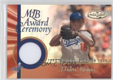 2001 Topps Gold Label MLB Award Ceremony Relic #GLR-HN - Hideo Nomo