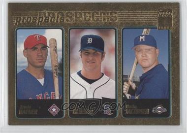 2001 Topps Gold #371 - Eric Munson, Bucky Jacobsen, Travis Hafner /2001