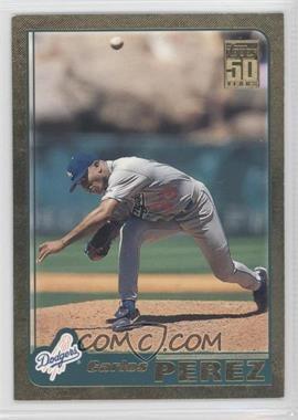 2001 Topps Gold #530 - Carlos Perez /2001