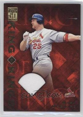 2001 Topps King of Kings Relic #4 - Mark McGwire