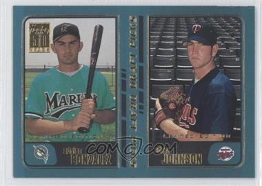 2001 Topps Limited Edition #352 - Adrian Gonzalez, Adam Johnson